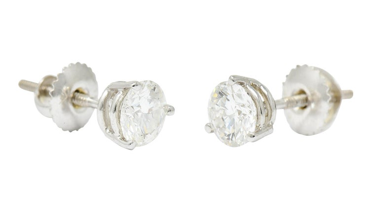 10.12 Carats Aquamarine Diamond 18 Karat White Gold Stud Enhancer Drop Earrings 1