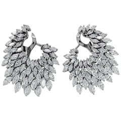 10.15 Carat Marquise Diamond Earrings