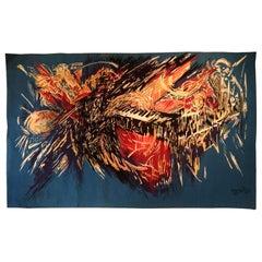 1015 - Modern 20th Century Tapestry 'Bouguillion', Jazz