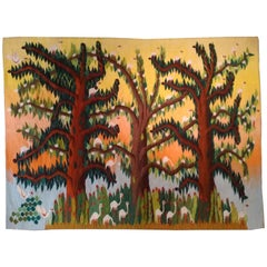 1016 -  Beautiful Vintage Tapestry from Egypt, in Wool with Very Pretty Colors