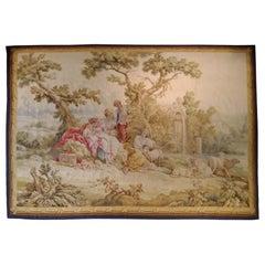 1017 - 19th Century Romantic Aubusson Tapestry
