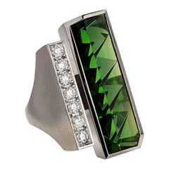 10.17 Carat Tourmaline Diamond Platinum Ring by Atelier Munsteiner