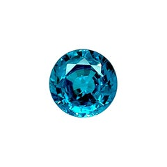 10.18 Carat Blue Zircon Round Loose Gemstone for Pendant or Necklace Enhancer