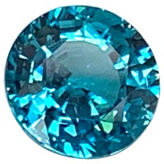 10.18 Carat Blue Zircon Round Loose Gemstone for Pendant or Necklace Enhancer