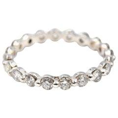 1.02 Carat Diamond 14 Karat White Gold Eternity Band