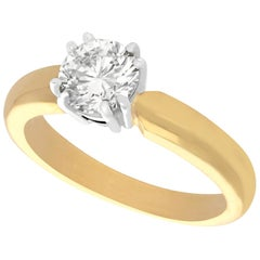 1.02 Carat Diamond and Yellow Gold Solitaire Ring