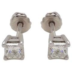 1.02 Carat Diamond Stud Earrings