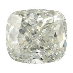 1.02 Carat Loose Diamond, Cushion Cut GIA Graded I1 I Solitaire
