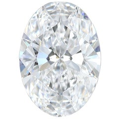 1.02 Carat Natural GIA Certified D-Flawless Type IIa Oval Brilliant Cut Diamond