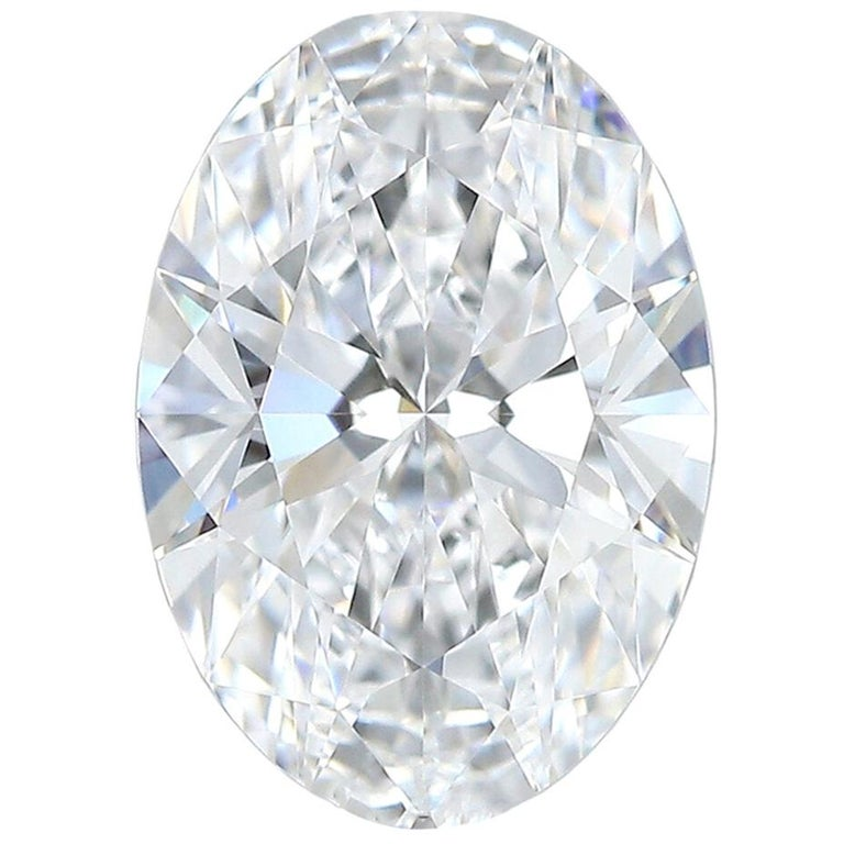 1.02 Carat Natural GIA Certified D-Flawless Type IIa Oval Brilliant Cut Diamond For Sale