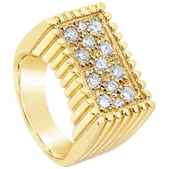 1.02 Carat Round Diamond Men's Fashion Ring