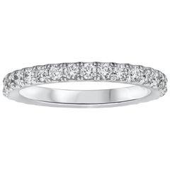 1.02 Carat Total Round Diamond Eternity Wedding Band