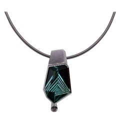 10.21 Carat Tourmaline Diamond Platinum Necklace by Atelier Munsteiner