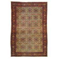 1023, Magnificent 19th Century Kurdish Senneh Carpet