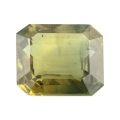 10.23ct Loose Sapphire Gemstone, Square Rectangle Green Yellow