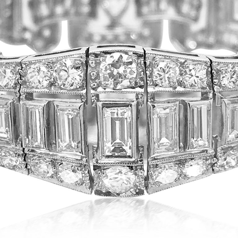 Retro 10.25 Carat Diamond Bracelet, Graff For Sale