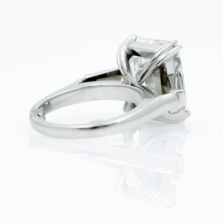 10.27 Carat Emerald Cut Diamond Platinum Ring 5