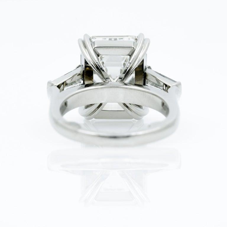 10.27 Carat Emerald Cut Diamond Platinum Ring 6