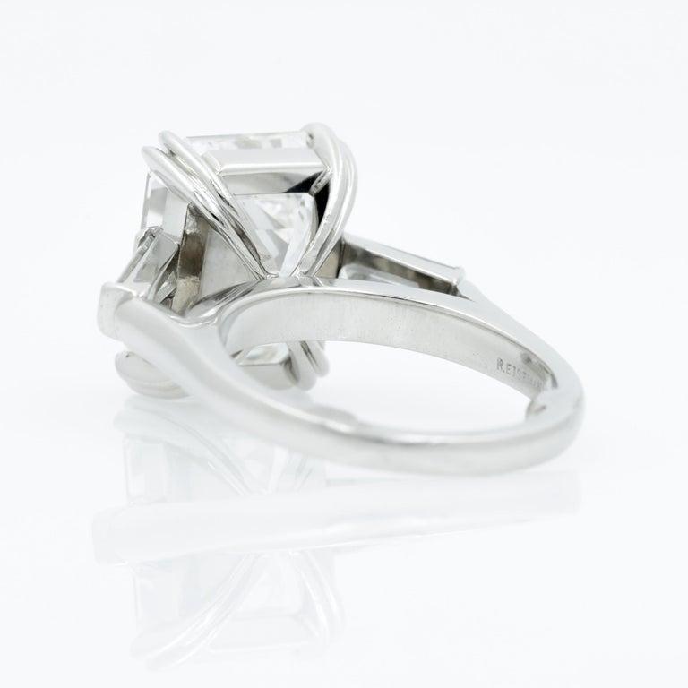 10.27 Carat Emerald Cut Diamond Platinum Ring 7