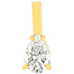 1.02ct Pear Shaped Diamond Pendant