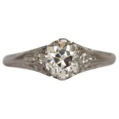 1.03 Carat Diamond Platinum Engagement Ring