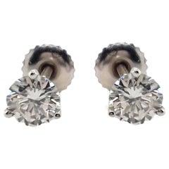 1.03 Carat Diamond Stud Earrings
