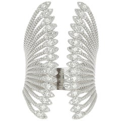 1.03 Carat GVS Amazing Round Diamond Ring 18K White Gold Diamond Fashion Ring