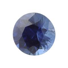 1.03 Carat Loose Sapphire Gemstone, Round Cut Blue Solitaire