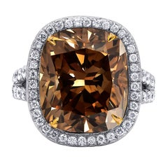 10.30 Carat GIA Certified Fancy Brown Diamond Ring