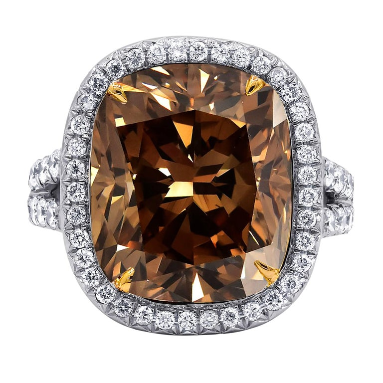 10.30 Carat GIA Certified Fancy Brown Diamond Ring