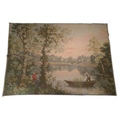 1030 - Vintage French Jaquar 'Gobelin' Style Tapestry