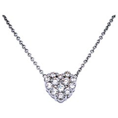 1.04 Carat Diamond 14 Karat Gold Hearts Boundless Set Pendant Necklace