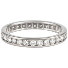 1.04 Carat Diamond Eternity Band Channel Set Platinum