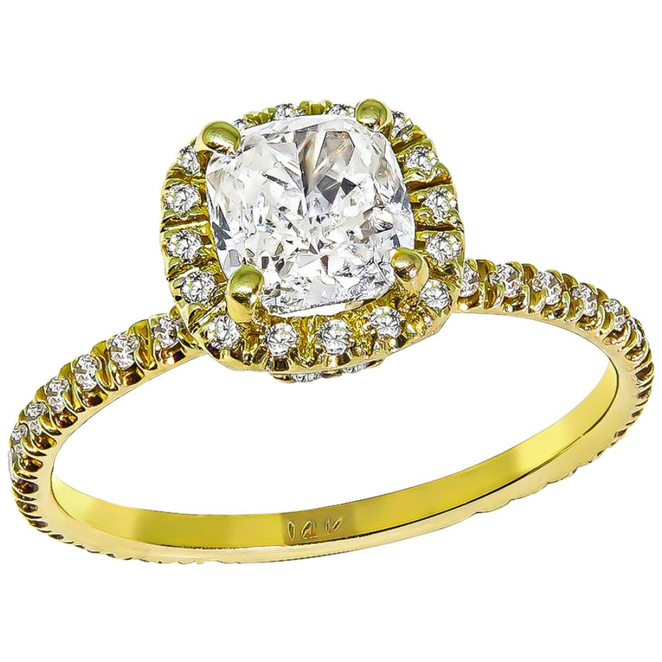 1.04 Carat Diamond Gold Engagement Ring