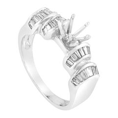 1.04 Carat Platinum Diamond Engagement Ring Mounting