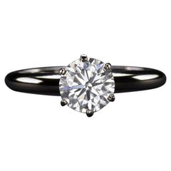 1.04 Carat Round Diamond Solitaire Engagement Ring
