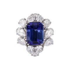 Laviere 10.40 Carat Tanzanite and Diamond Platinum Cocktail Ring