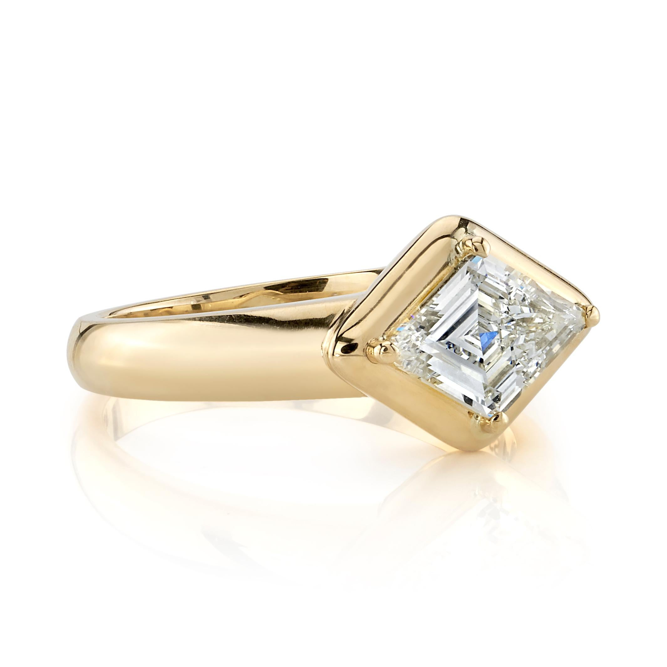 1.41 Ct Round Cut Morganite /& D//VVS1 Diamond 18K Rose Gold Over Ring