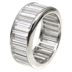 10.5 Carat Baguette Cut Spectacular Diamond Platinum Eternity Band