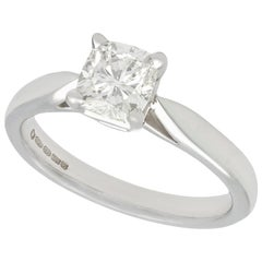 1.05 Carat Diamond and White Gold Solitaire Engagement Ring