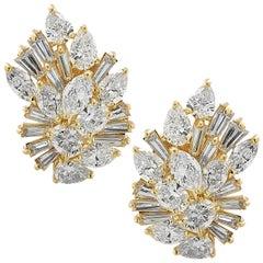 10.5 Carat Diamond Cluster Earrings