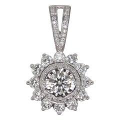 1.05 Carat Diamond Pendant in 18 Karat Gold