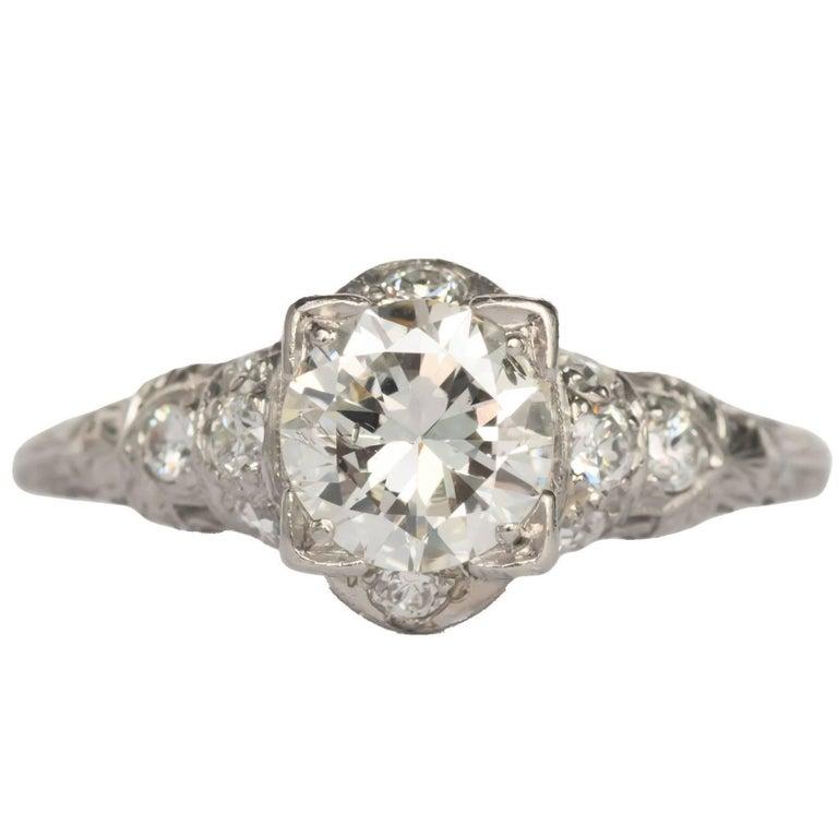 1.05 Carat Diamond Platinum Engagement Ring