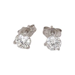1.05 Carat Diamond Stud Earrings