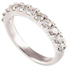 1.05 Carat Round Brilliant Cut Diamond Bridal Ring in 18 Carat White Gold