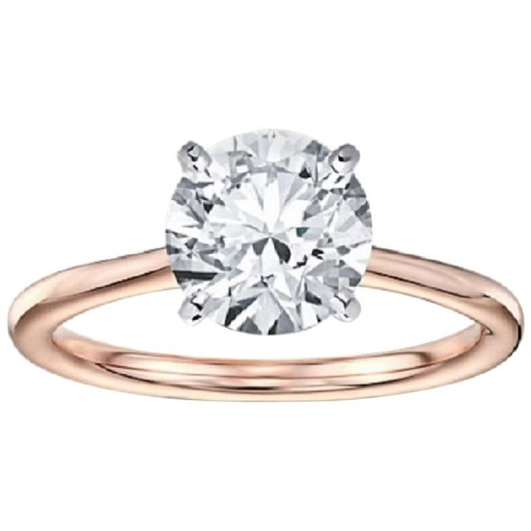 3bfa21577 1.05 Carat Round Brilliant Cut Tiffany & Co. Solitaire Engagement Ring For  Sale
