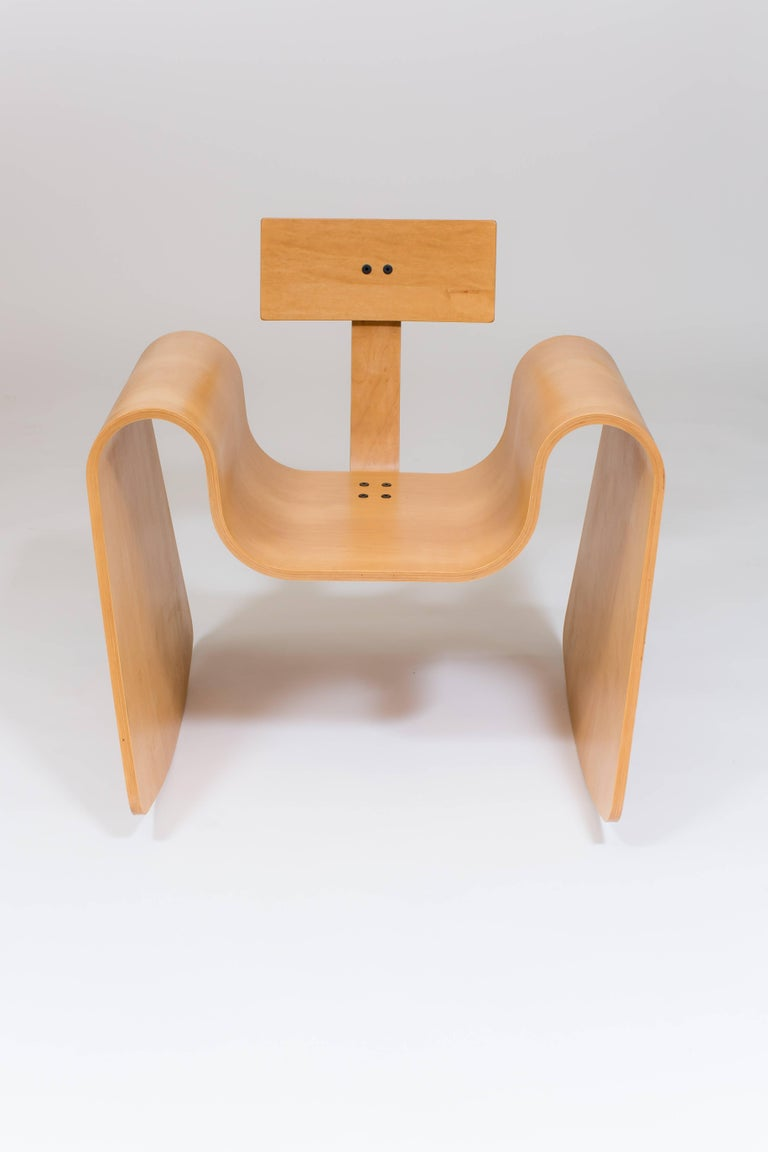 Contemporary 105 Rocking Chair in Molded Plywood with Natural Finish For Sale