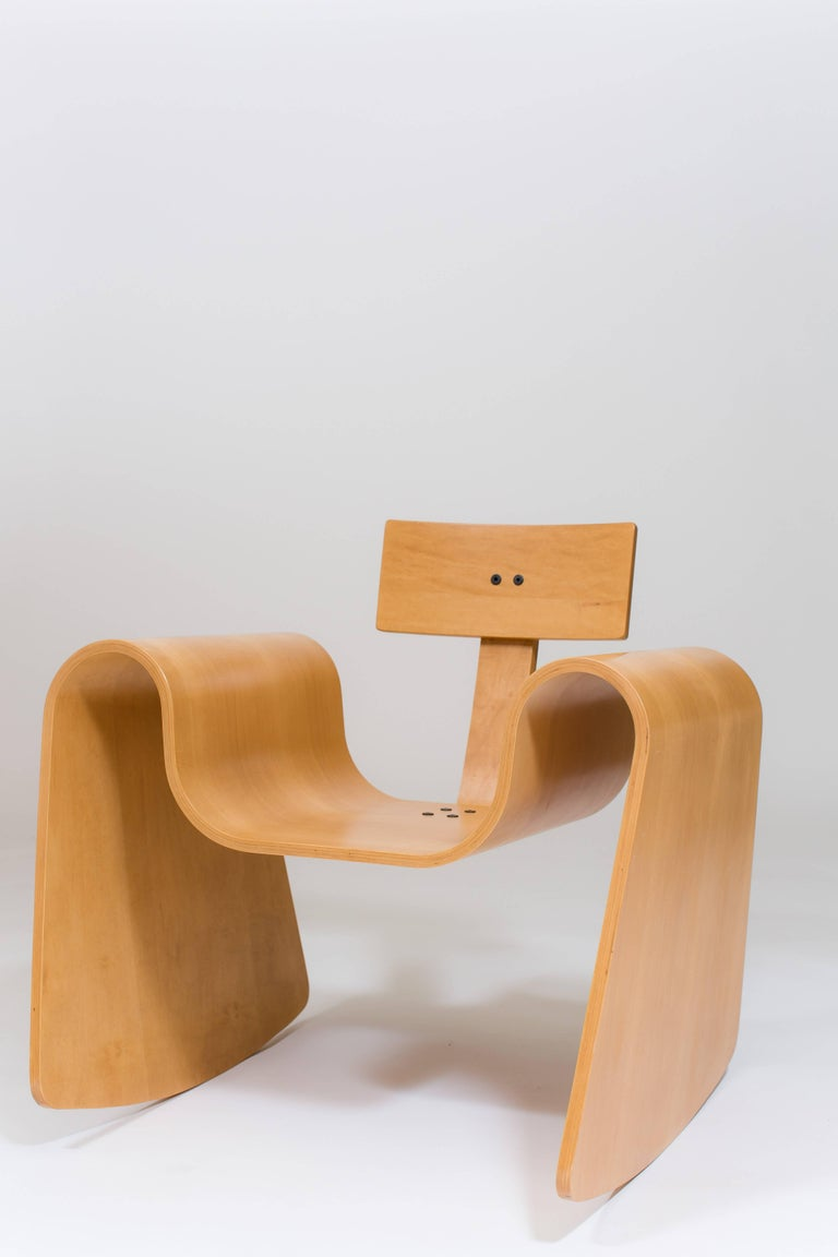 Birch 105 Rocking Chair in Molded Plywood with Natural Finish