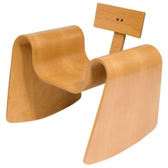 105 Rocking Chair in Molded Plywood with Natural Finish