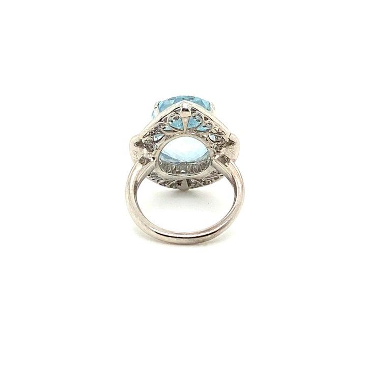 10.50 Carat Aquamarine with 1.50 Carats of Diamonds 1